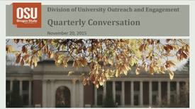 Thumbnail for entry O&E Division Quarterly Conversation (11/20/15)