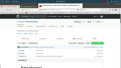 Thumbnail for entry CASS SDS 2018:  Intro to Building Web Applications using Python PART 1Python_Installation-Linux_Mac