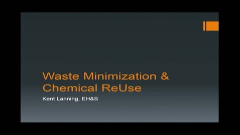 Thumbnail for entry 2014-03-11 DUSC Part 5 of 5 Waste Minimization and Reuse
