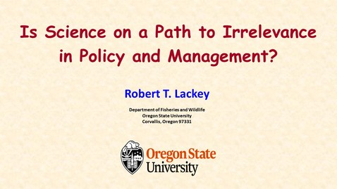 Thumbnail for entry Is Science on a Path to Irrelevance in Policy and Management?