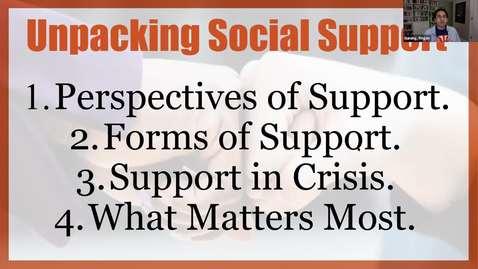 Thumbnail for entry Dr. Gurung Unpacks Social Support