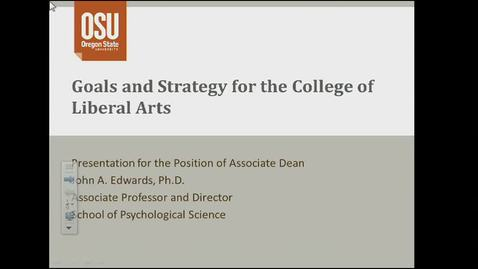 Thumbnail for entry College of Liberal Arts Assistant Dean Candidate - John Edwards