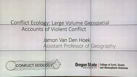 Thumbnail for entry Research Computing Seminar on Geospatial Analysis of Conflict