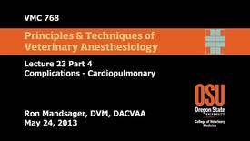 23 04 Complications - Cardiopulmonary