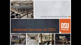 Thumbnail for entry Janitorial Services at OSU