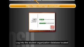 Thumbnail for entry Student Organization Database - Adding officers