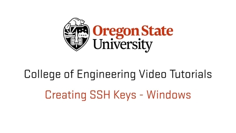 Thumbnail for entry Creating SSH Keys Windows