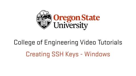 Thumbnail for entry Creating SSH Keys Windows