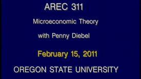AREC 311 Winter 2011 - Lecture 21