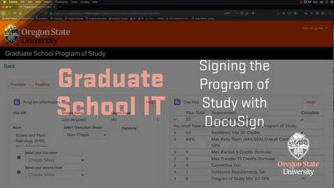 Thumbnail for entry Program of study docusign tutorial