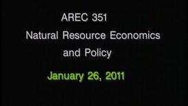 AREC 351 Winter 2011 - Lecture 09
