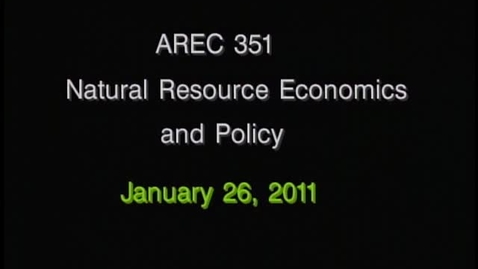 Thumbnail for entry AREC 351 Winter 2011 - Lecture 09
