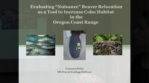 "Thumbnail for entry Evaluating ""Nuisance"" Beaver Relocation"
