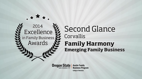Thumbnail for entry 2014, Second Glance, Inc., Excellence in Family Business Awards
