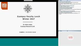 Thumbnail for entry Ecampus Faculty Lunch - Winter 2017 - Research Strategies