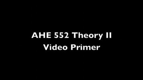 Thumbnail for entry 1 views AHE 522 Theory II Primer - Kolb's Experiential Model v2