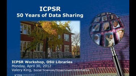 Thumbnail for entry ICPSR-50 Years of Data Sharing