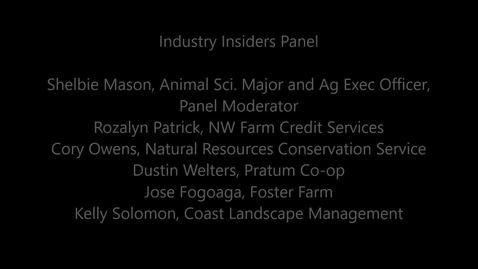 Industry Insiders Panel