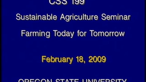 Thumbnail for entry CSS 199 Winter 2009 - Lecture 7
