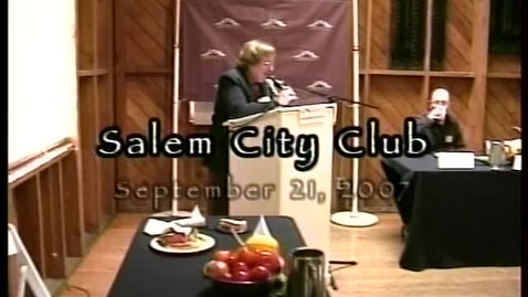 """Thumbnail for entry """"What Are We Eating?"""" Salem City Club presentation, 2007"""