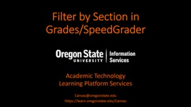 Thumbnail for entry Filter Grades/SpeedGrader by Section