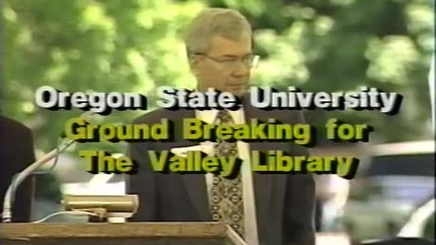 Thumbnail for entry Valley Library groundbreaking ceremony, May 24, 1996