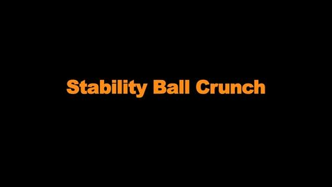 Thumbnail for entry Stability Ball Crunch