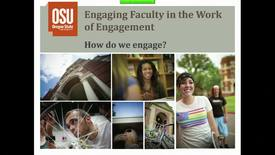 Thumbnail for entry Exploring Engagement Symposium: Engaging faculty in the work of engagement