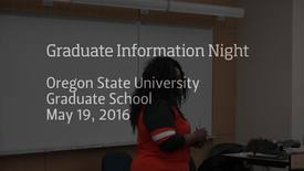 Thumbnail for entry Welcome to Graduate Information Night