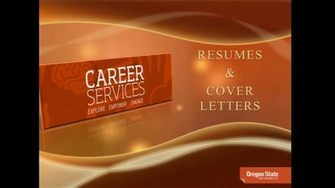 Thumbnail for entry Resumes and Cover Letters