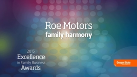 Thumbnail for entry 2015 Excellence in Family Business Awards - Roe Motors