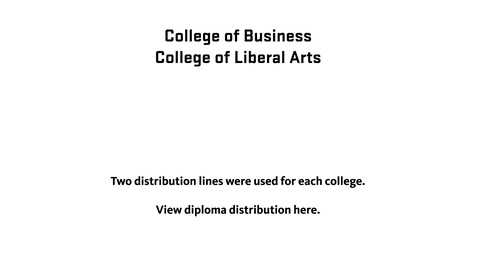 Thumbnail for entry 150th Annual Oregon State University Commencement (2019) - Distribution of Diplomas (Business, Liberal Arts)