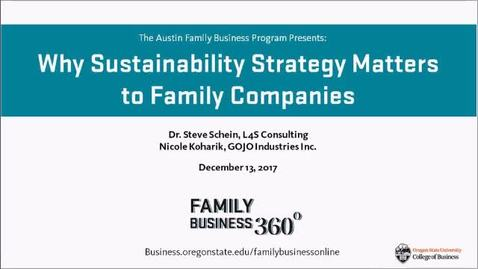 Thumbnail for entry Why Sustainability Strategy Matters to Family Companies - Family Business 360 Webinar