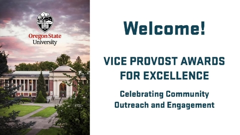 Thumbnail for entry Outreach and Engagement Vice Provost Awards for Excellence - May 2019