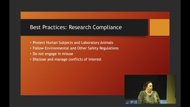 Thumbnail for entry Research Integrity Best Practices Part 1