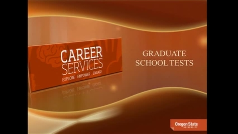 Thumbnail for entry Graduate School Tests