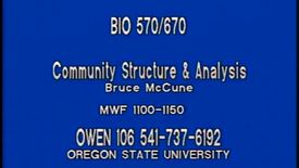 BIO 570 - Lecture 04: Cluster analysis, MRPP
