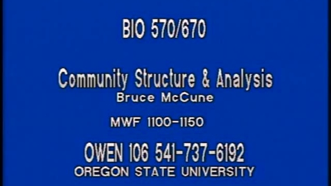 Thumbnail for entry BIO 570 - Lecture 04: Cluster analysis, MRPP