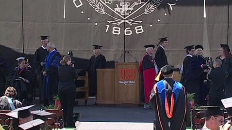 Thumbnail for entry 146th Annual Oregon State University Commencement (2015) - Part 8