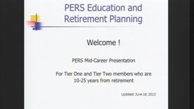 PERS Mid-Career Overview