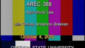Thumbnail for entry AREC 388 Fall 2010 - Lecture 03