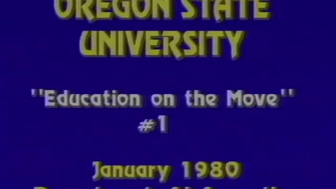 Thumbnail for entry Oregon State University logos footage, January 1980
