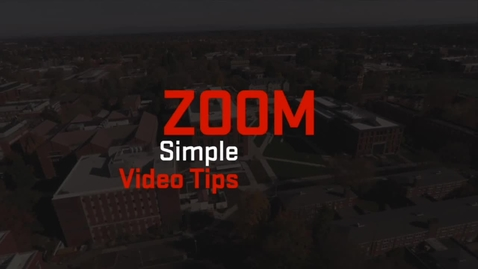 Thumbnail for entry Zoom | Simple Video Tips