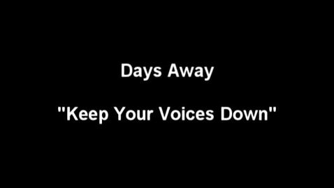"Thumbnail for entry ""The Meow Meow Show"" [KBVR-TV] - Days Away perform their song, ""Keep Your Voices Down,"" 2004"