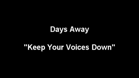 """Thumbnail for entry """"The Meow Meow Show"""" [KBVR-TV] - Days Away perform their song, """"Keep Your Voices Down,"""" 2004"""