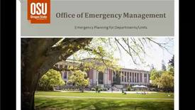Emergency Planning for Departments and Units