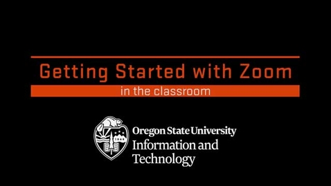 Thumbnail for entry Getting Started with Zoom in the Classroom