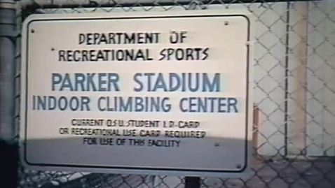 Thumbnail for entry Parker Stadium Indoor Climbing Center presentation, circa 1990