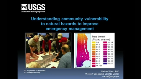Thumbnail for entry Corporate Partners Seminar (March 8, 2013): Nathan Wood - Understanding Community Vulnerability to Natural Hazards to Improve Emergency Management