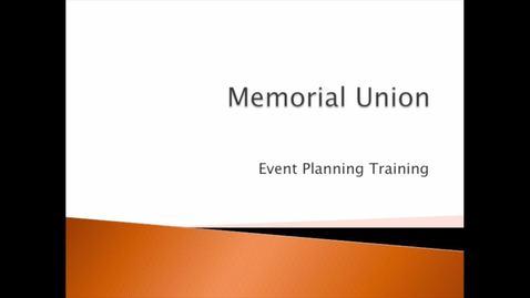 Thumbnail for entry Ballroom and Plaza Setup: MU Event Training (1 of 3)
